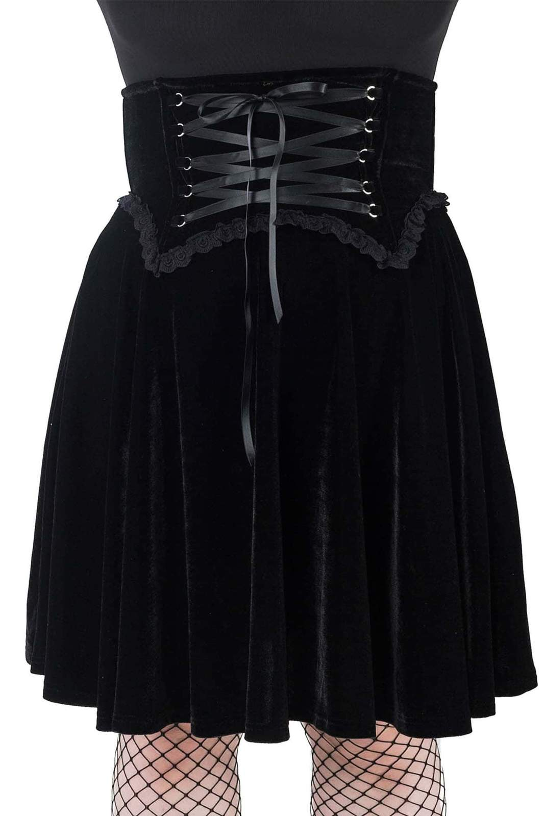Dark Lover High-Waisted Skirt Black