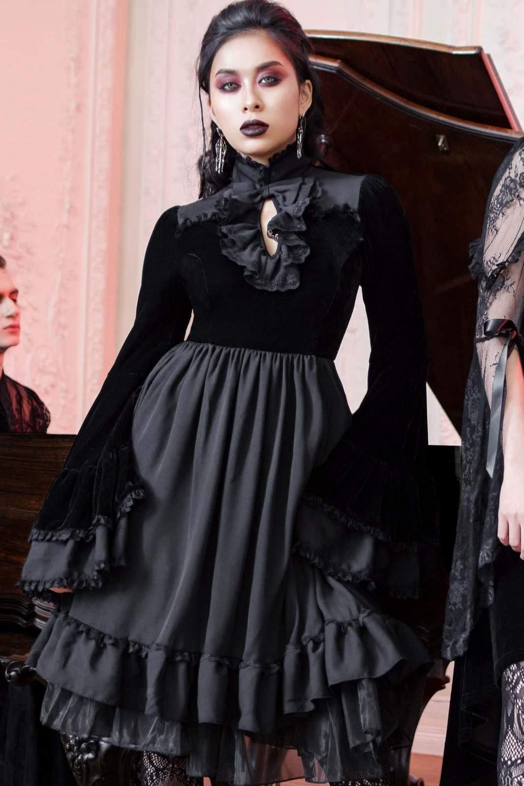 Lost Girl Ruffle Dress Black