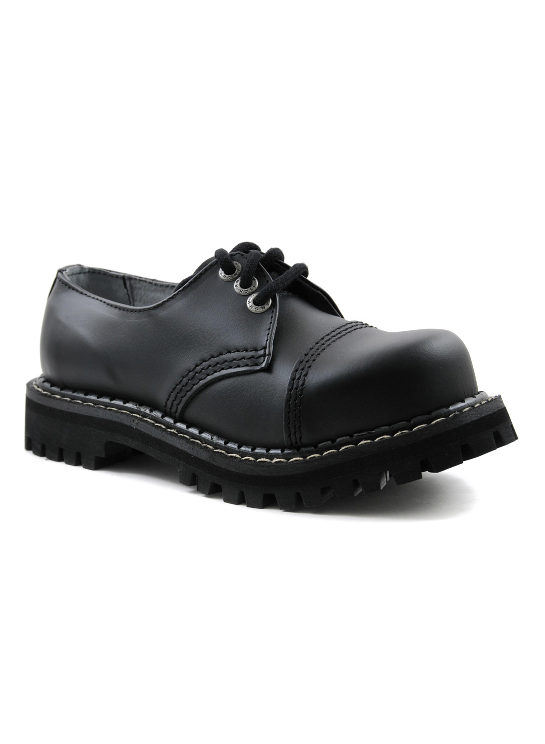 Angry Itch 3 Eye Steel Toe Boots Leather