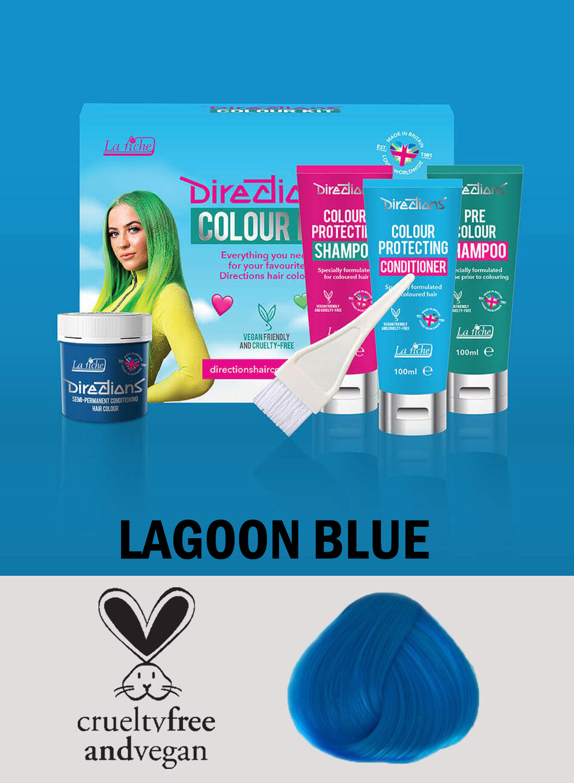 Directions Hair Colour Lagoon Blue Kit
