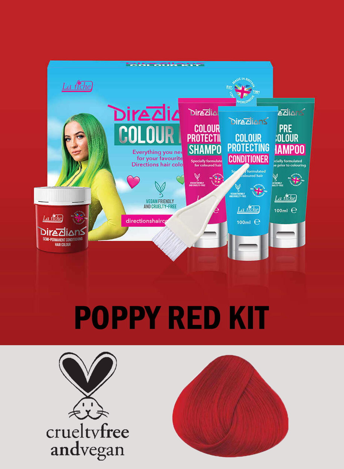 Directions Poppy Red kit