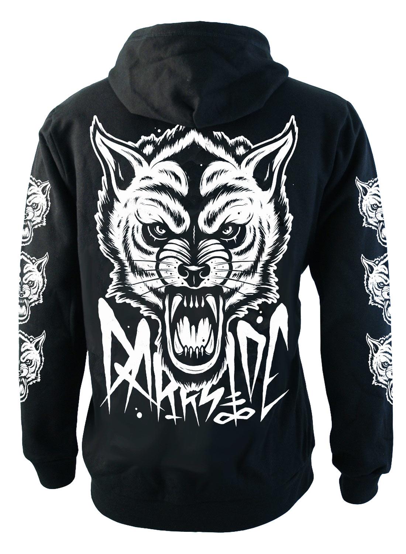 Wolf Zip hood Black