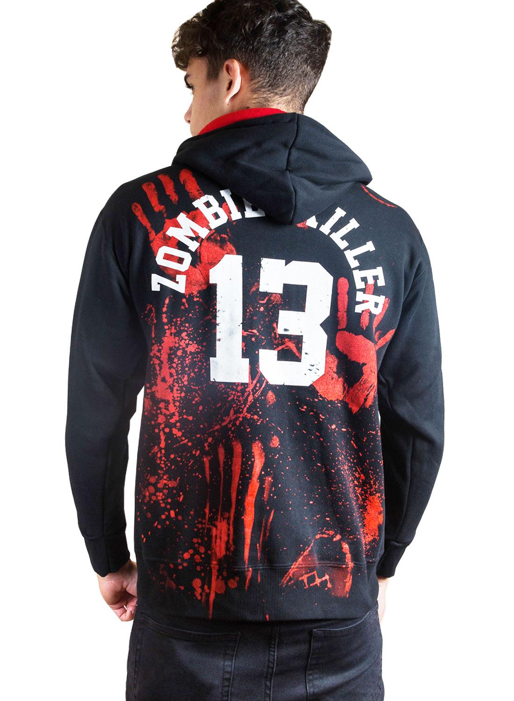 Zombie Killer Zip hood Black