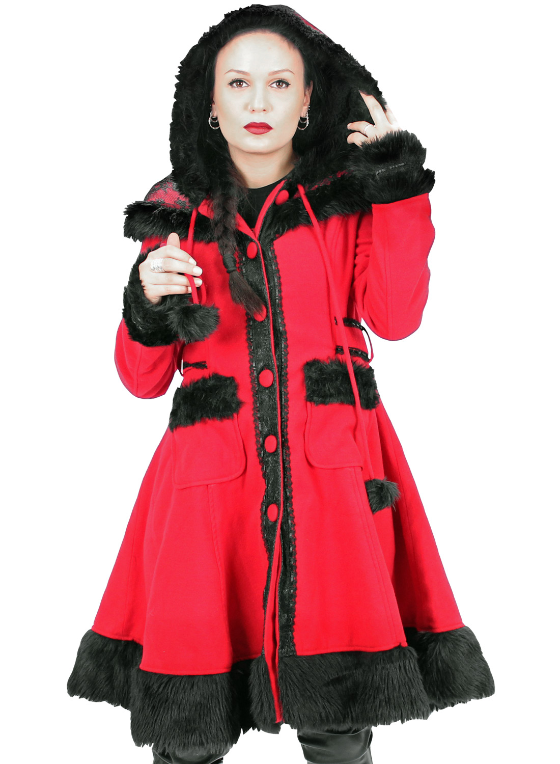 Red Forest Cupcake Coat