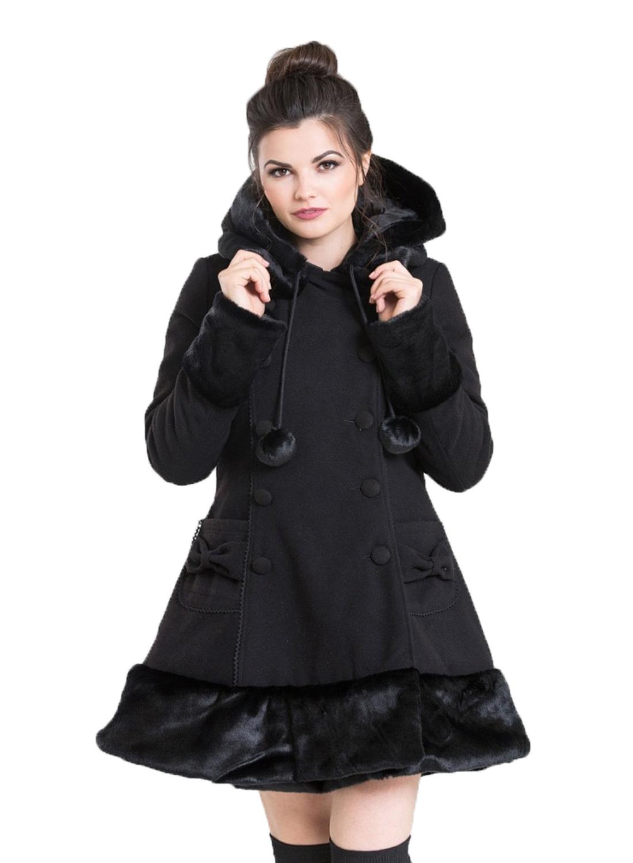 Hell Bunny Sera Jane Coat Black