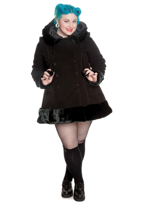 Hell Bunny Sera Jane Coat Plus Size Black