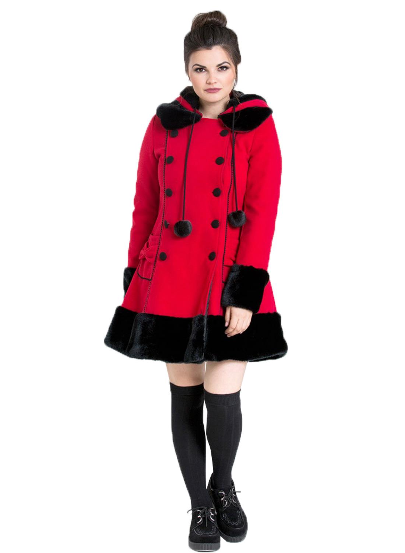 Hell Bunny Sera Jane Coat Red