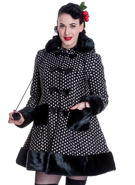 Hell Bunny Amelia Black/White Coat