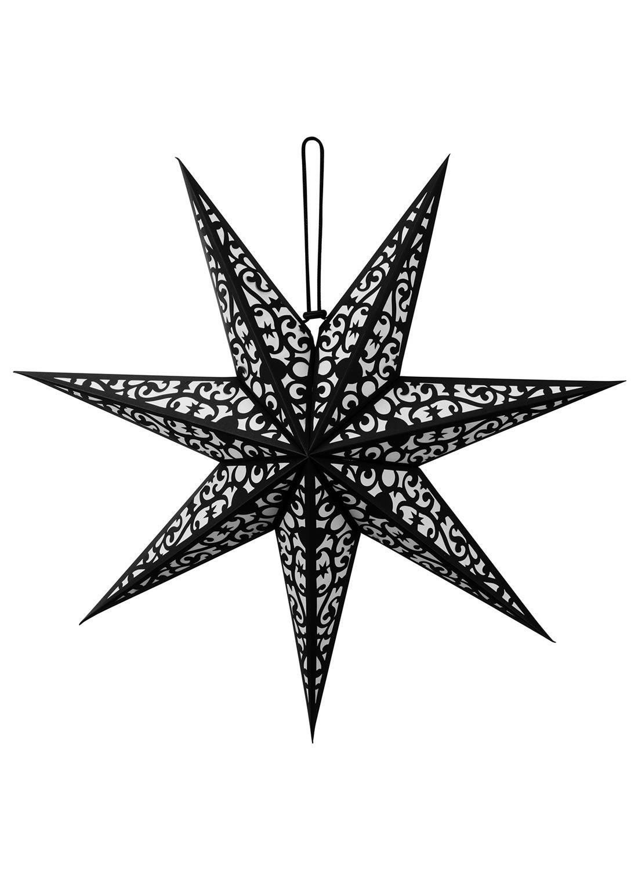 Betelgeuse, lykta från Killstar. Helt svart med kosmiska vibbar och mönster. Tillverkad i kvalitetspapper.
