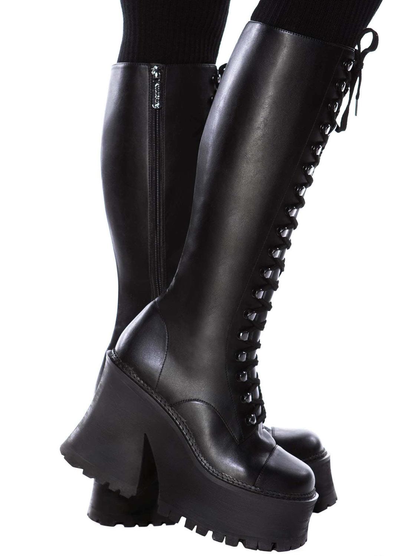 Killstar Storm Knee High Boots Black