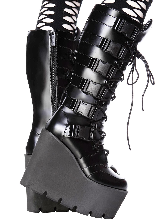 Killstar Lugosi Platform Boot black
