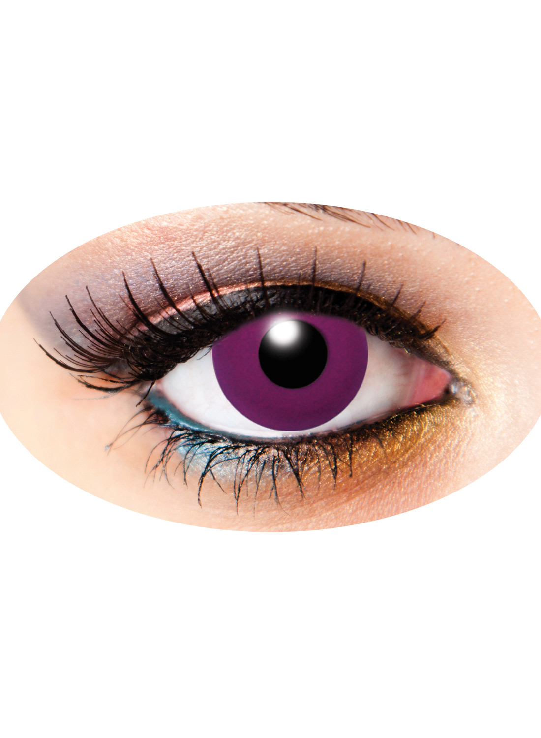 3 Month Funky Lenses Solid Purple