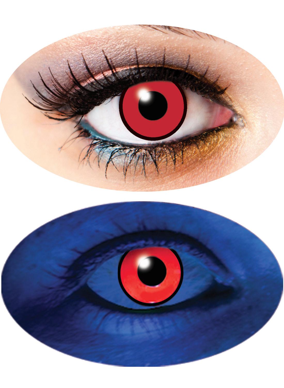 3 Month UV lenses Red