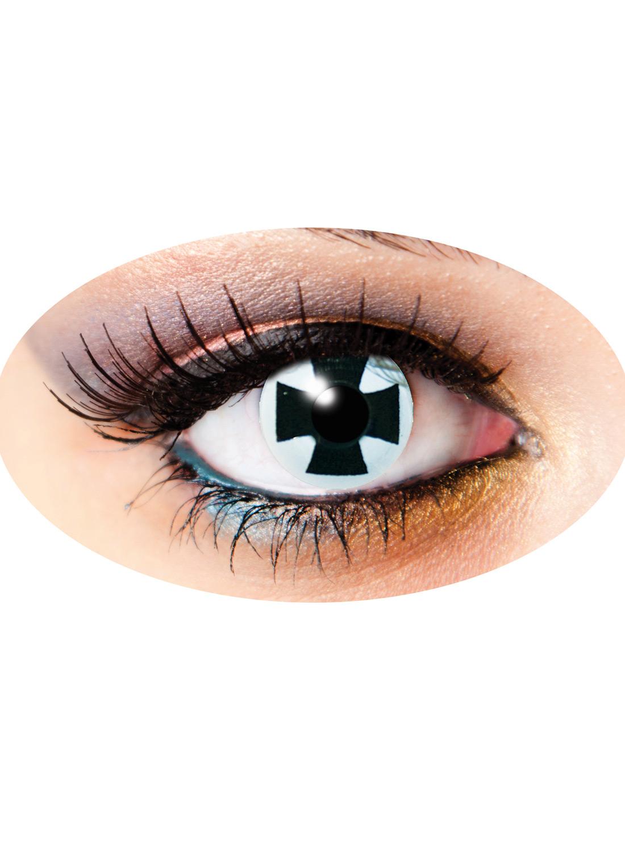 3 Month Funky lenses Black Cross