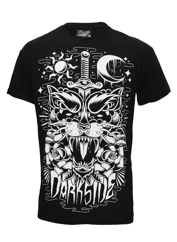 Darkside Panther Tattoo T-shirt Black
