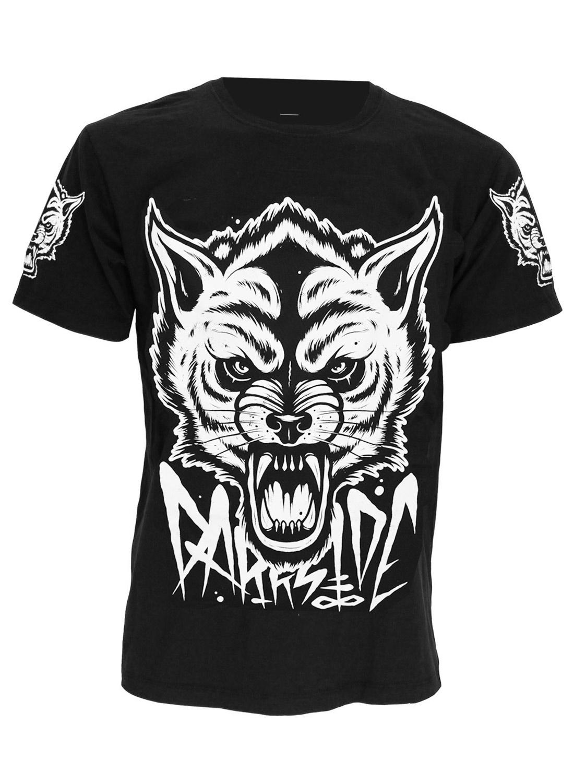 Darkside Wolf T-shirt Black