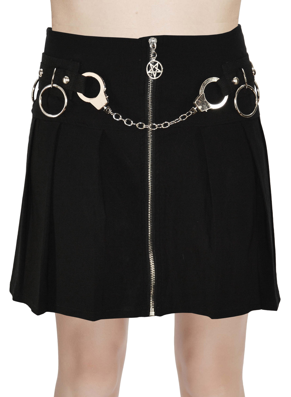 Gothic glam skirt Black