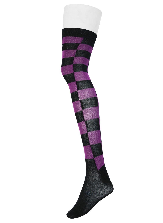 Ok checkered Socks Black/Purple