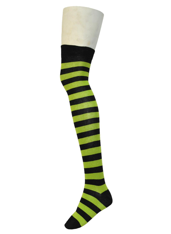 Ok Stripe Socks Black/Neon Green