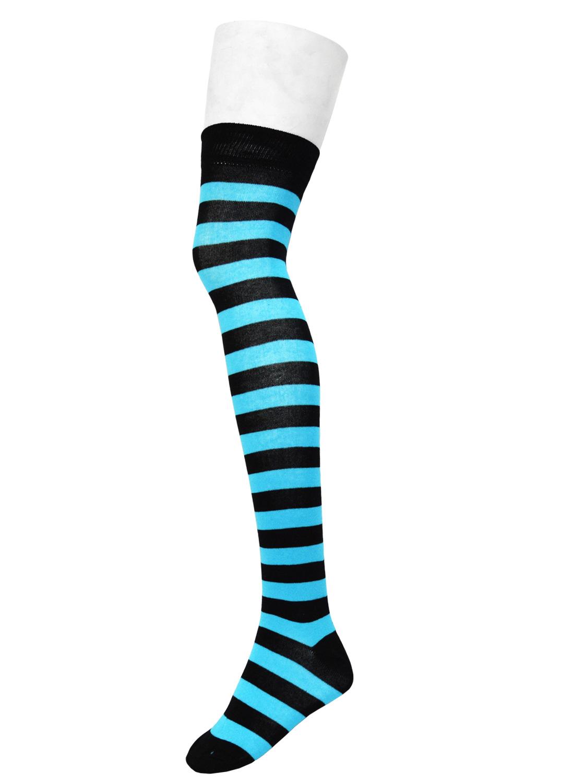 Ok Stripe Socks Black/Neon Turquois