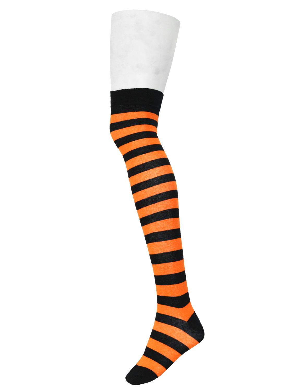 Ok Stripe Socks Black/Orange