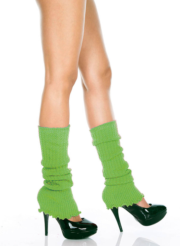 Fuzzy Leg Warmer Neon Green