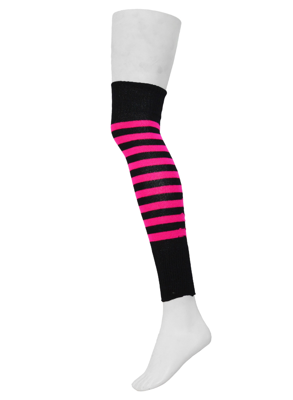 Fuzzy Leg Warmer Black/Pink